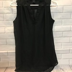Rue 21 Black Sleeveless Sheer Flowy Blouse, S